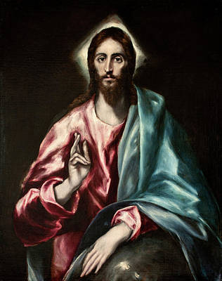 Redeemer Painting - Christ As Saviour by El Greco
