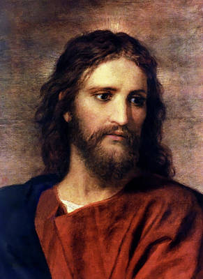 Portrait Painting - Christ At 33 by Heinrich Hofmann