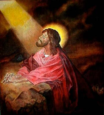 Painting - Christ At Gethsemane by G Cuffia