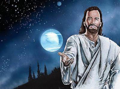 Christ At Night Art Print by Bill Richards