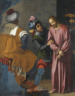 Christ Before Pilate Painting - Christ Before Pilate by Agostino Ciampelli