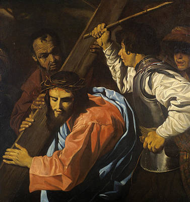 Painting - Christ Being Led To Calvary by Follower of Matthias Stom
