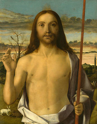 Jesus Art Painting - Christ Blessing by Giovanni Bellini