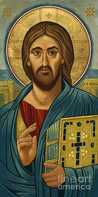 Painting - Christ Blessing - Jccbl by Joan Cole