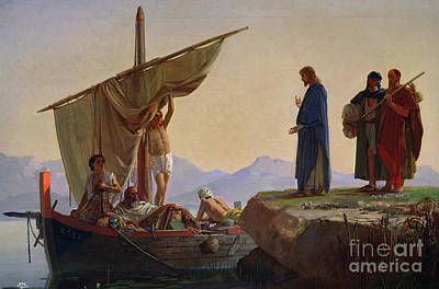 Christ Calling The Apostles James And John Art Print by Edward Armitage