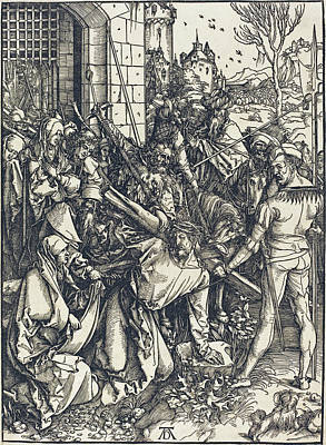 Drawing - Christ Carrying The Cross by Albrecht Durer
