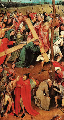 Via Dolorosa Painting - Christ Carrying The Cross by Hieronymus Bosch