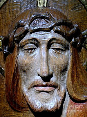 Photograph - Christ Carving by Ed Weidman