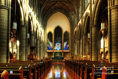 Photograph - Christ Church Cathedral Victoria Canada by Bob Christopher