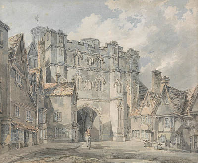 English Church Painting - Christ Church Gate Canterbury by Joseph Mallord William Turner
