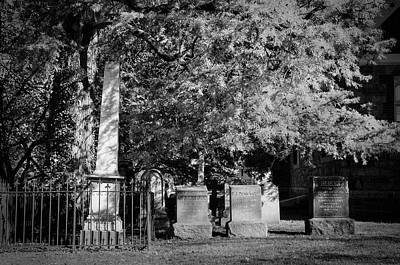 Photograph - Christ Church Graveyard by Mick Burkey