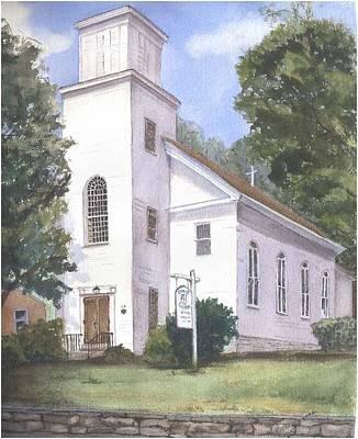East Hampton Painting - Christ Church by Katherine  Berlin