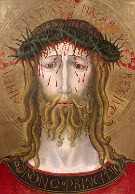 Devotional Painting - Christ Crowned With Thorns  by Benedetto Bonfigli