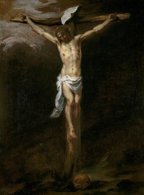Jesus Art Painting - Christ Crucified by Bartolome Esteban Murillo