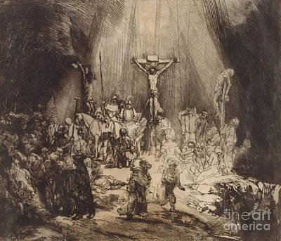 Christ Crucified Between The Two Thieves  The Three Crosses, 1653 Art Print