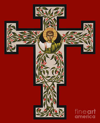 Painting - Christ Emmanuel Flowering Cross 018 by William Hart McNichols