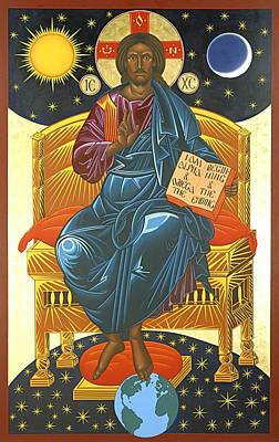 Christ Enthroned Icon  Art Print by Mark Dukes