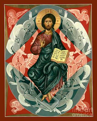 Painting - Christ Enthroned - Rlcen by Br Robert Lentz OFM