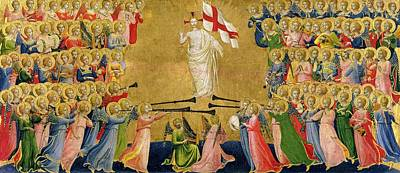 Flags Painting - Christ Glorified In The Court Of Heaven by Fra Angelico