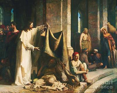 Healing Painting - Christ Healing The Sick At Bethesda by Pg Reproductions