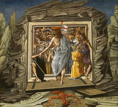 Limbo Painting - Christ In Limbo by Benvenuto di Giovanni