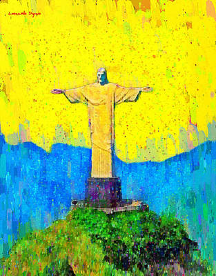 Saint Painting - Christ In Rio 2 - Da by Leonardo Digenio