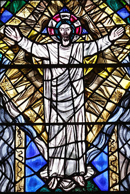Photograph - Christ In Stained Glass by Scott Hill