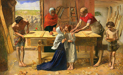Christian Artwork Painting - Christ In The Carpenter's Shop by Mountain Dreams
