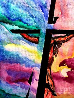Painting - Christ In The Sunset  by Justin Moore