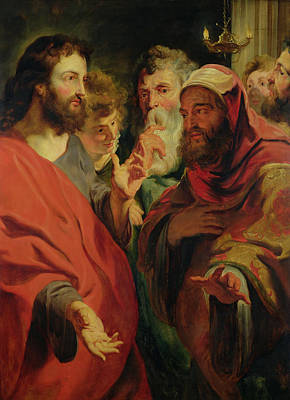Christ Instructing Nicodemus Art Print by Jacob Jordaens
