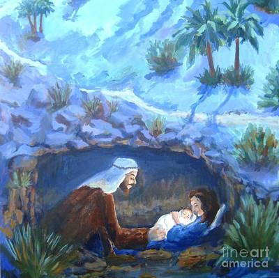 Christ Is Born Original by Maria Hunt