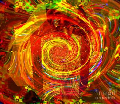 Visionary Art Display Digital Art - Christ Is The Gift - The Xmas Gift Is Not Christ by Fania Simon