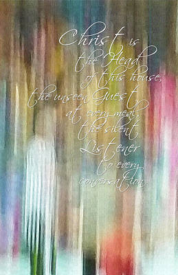 - Christ Is The Head Of This House Abstract by Denise Beverly