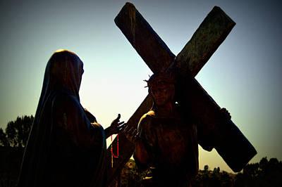 Christ Meets His Mother Art Print