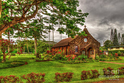 Photograph - Christ Memorial Episcopal Church Kilauea Kauai Collection Art by Reid Callaway