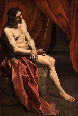 Good Friday Painting - Christ Mocked by Gian Lorenzo Bernini