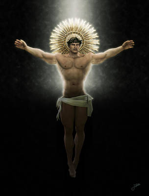 Muscular Digital Art - Christ Of Free Love by Joaquin Abella