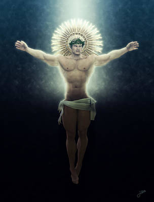 Muscular Digital Art - Christ Of The Eternal Night by Joaquin Abella