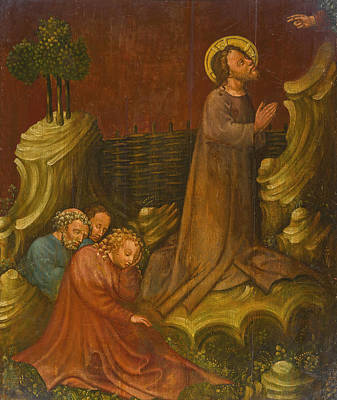 Painting - Christ Of The Mount Of Olives by The Master of the Saint Lambrecht Votive Altarpiece