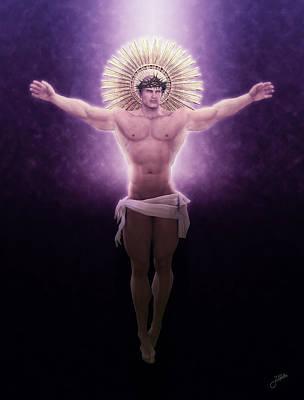 Muscular Digital Art - Christ Of The Sacred Light by Joaquin Abella