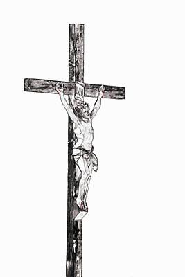 Digital Art - Christ On Cross by MaryAnn Janzen