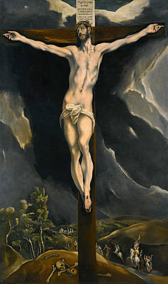 King Of Darkness Painting - Christ On The Cross by El Greco