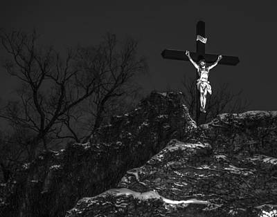 Photograph - Christ On The Cross 001 by Jeff Stallard