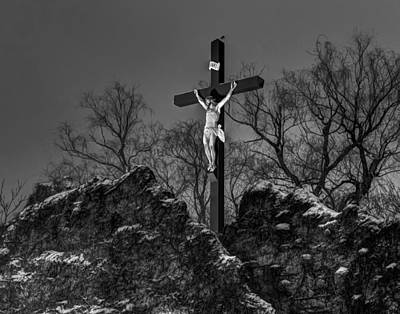 Photograph - Christ On The Cross 002 by Jeff Stallard