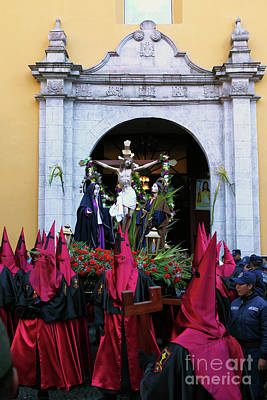 Semana Santa Wall Art - Photograph - Christ On The Cross At Good Friday Procession by James Brunker