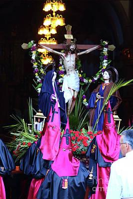 Semana Santa Wall Art - Photograph - Christ On The Cross by James Brunker