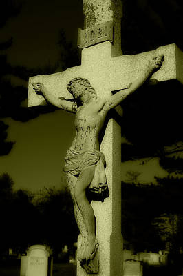 Religious Jesus On Cross Photograph - Christ On The Cross by James DeFazio