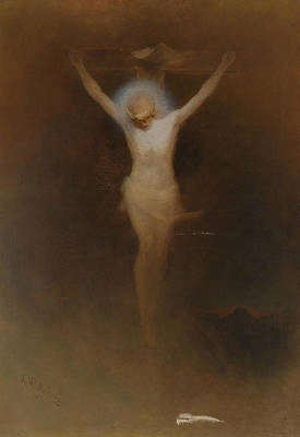 Painting - Christ On The Cross by Karl Wilhelm Diefenbach