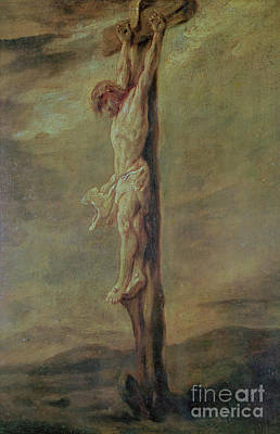Christ On The Cross Art Print by Rembrandt