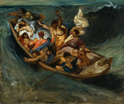 Jesus Art Painting - Christ On The Sea Of Galilee by Eugene Delacroix